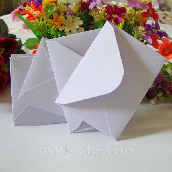 конверт из крафт бумаги С6 белый купить