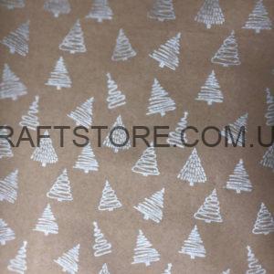 Бумага новогодняя в рулонах крафт купить
