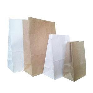 Крафт пакеты с плоским дном