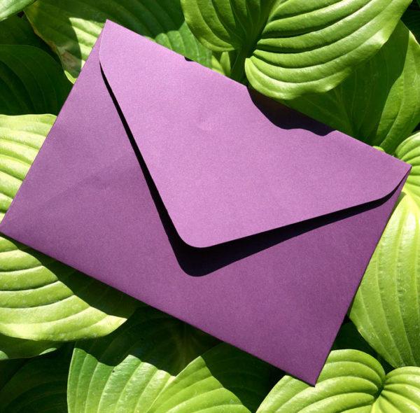 Цветные конверты крафт С6