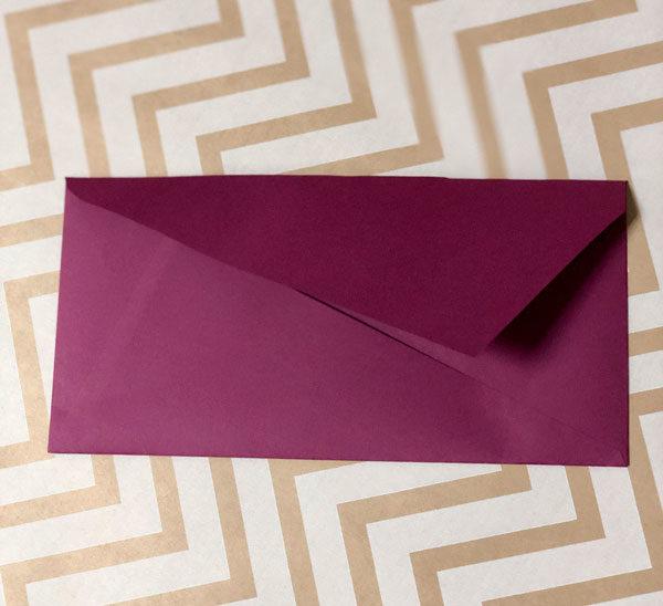 Крафт конверт DL с треугольным клапаном купить