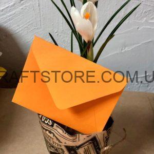 Свадебные крафт конверты С6