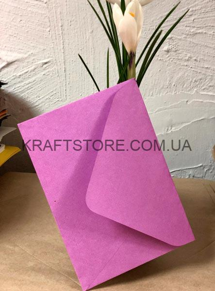 Крафт конверты с треугольным клапаном для визиток цена