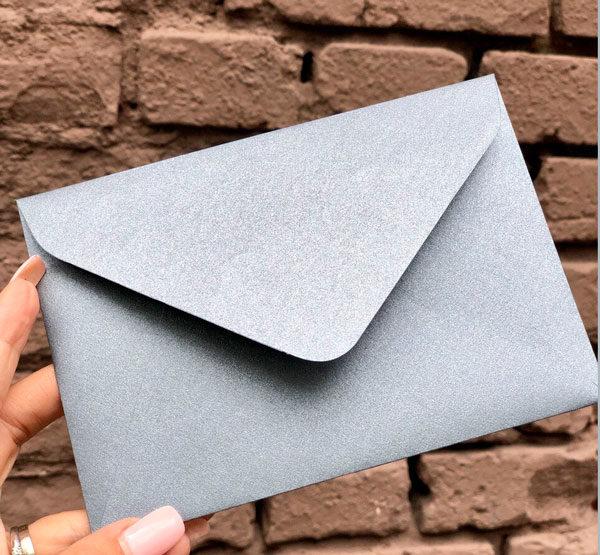 Подарочные конверты крафт С6 из перламутровой бумаги купить украина