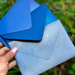 Конверты из перламутровой крафт бумаги
