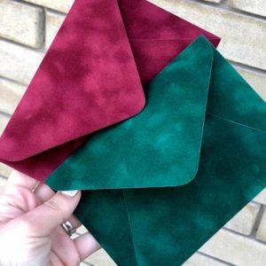 Бархатные конверты цветные