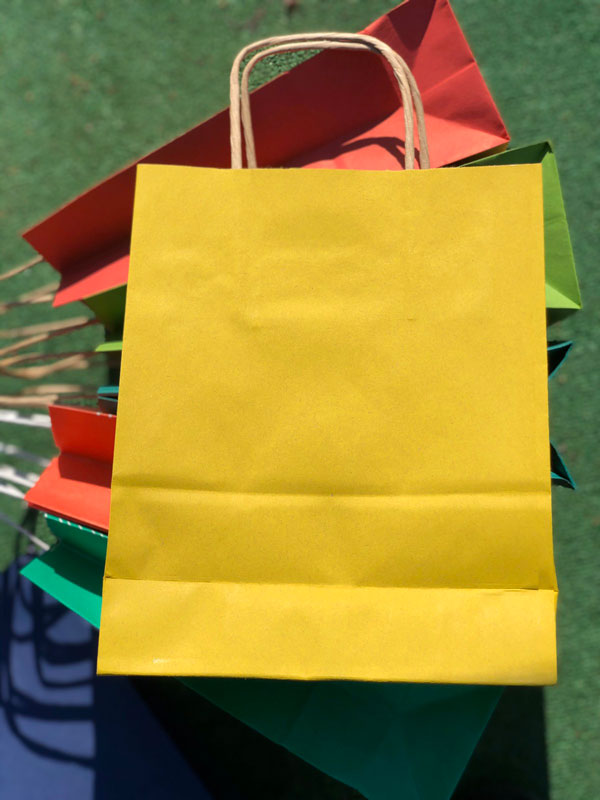 Пакет крафт с ручками цветной цена украина