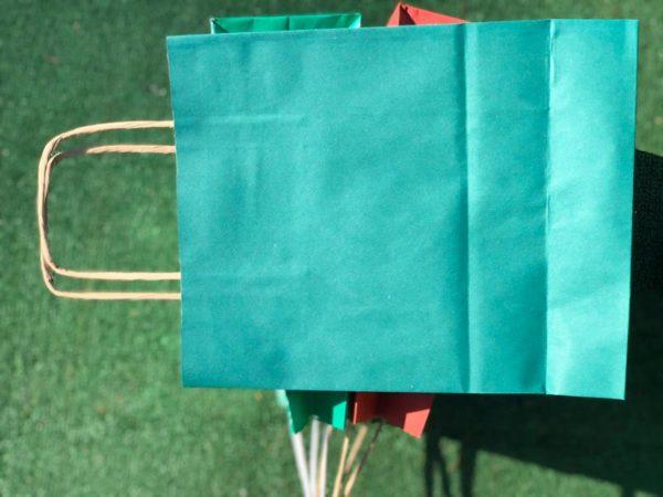 купить Цветные крафт пакеты с ручками