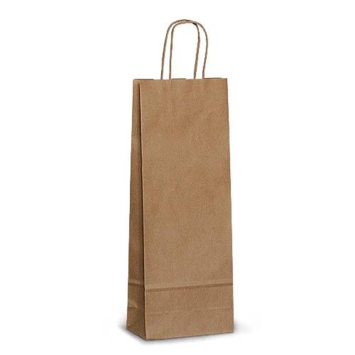 Бумажные пакеты под бутылку купить оптом печать