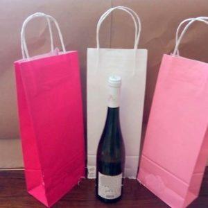 Бумажный пакет под бутылку вина купить оптом