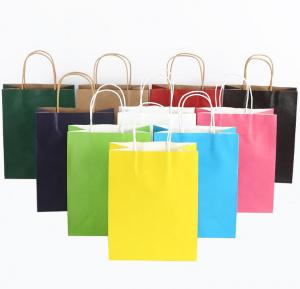Пакеты с ручками цветные оптом купить