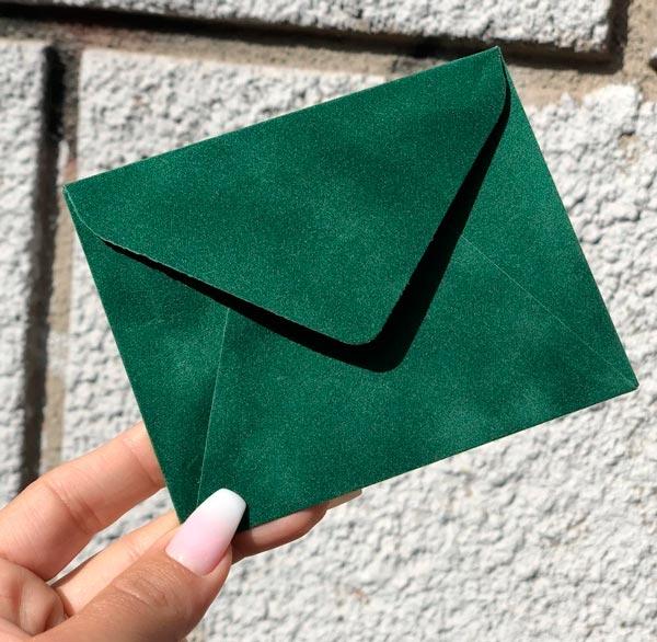Маленькие конверты бархатные купить