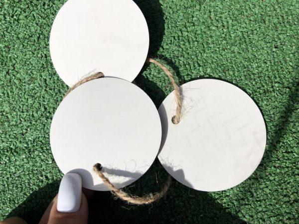 Бирки картонные круглые на заказ купить недорого