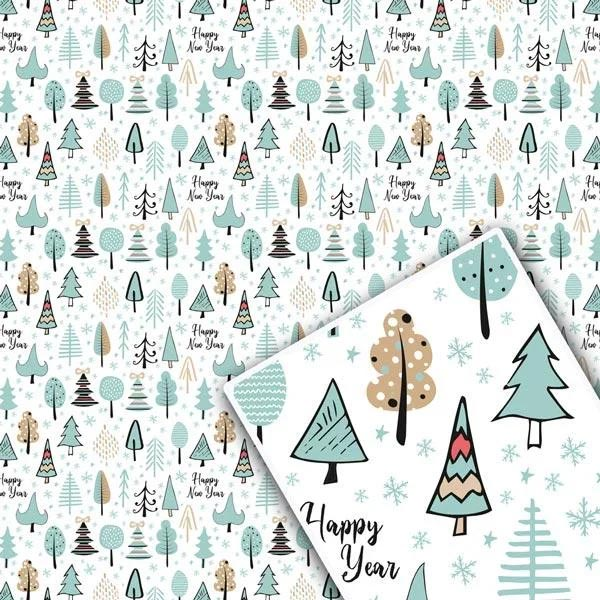 Бумага для оборачивания новогодних подарков купить