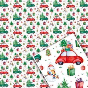 Бумага детская для новогодних подарков цена