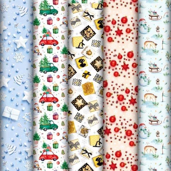 Подарочная бумага новогодняя рулоны купить