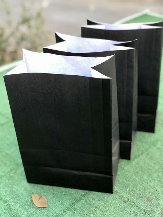 Черные крафт пакеты без ручек подарочные купить