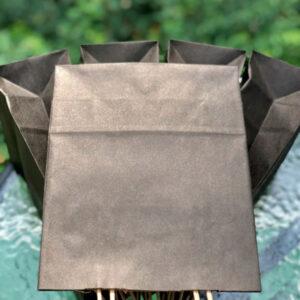 Черные бумажные пакеты с ручками малые купить