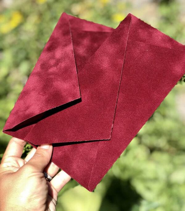 цена на Бархатный красивый конверт E65 для письма