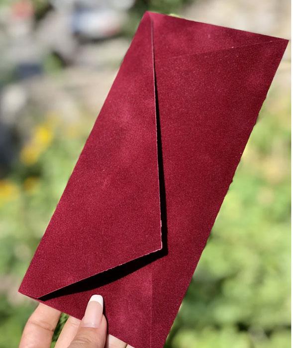 Бархатный красивый конверт E65 для письма купить