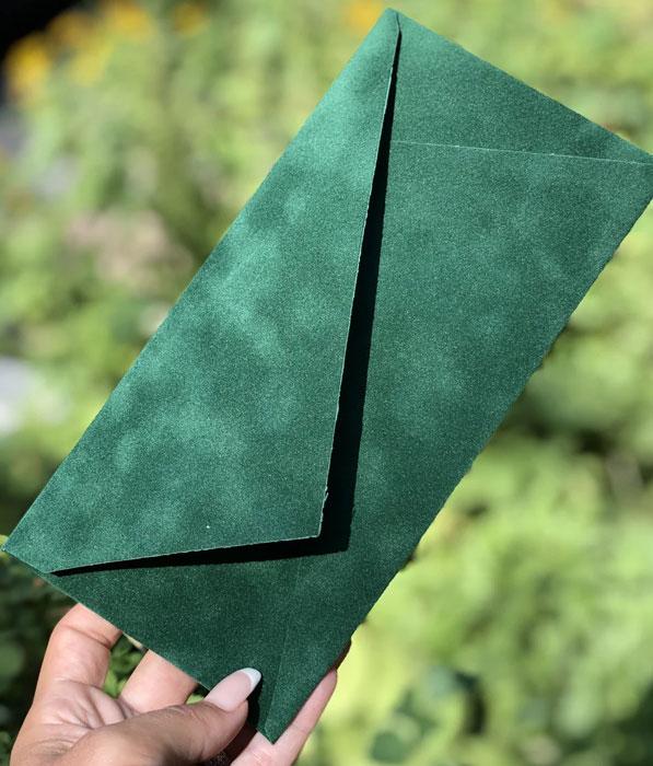 Декоративный бархатный конверт E65 для денег купить