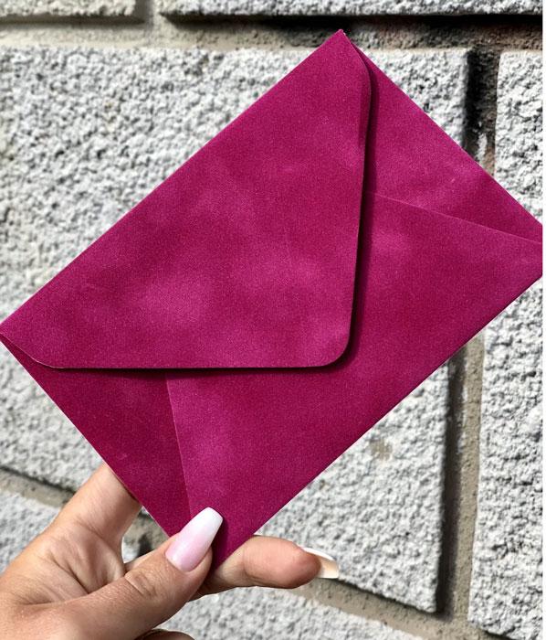 Конверт подарочный С5 из бархатной бумаги купить