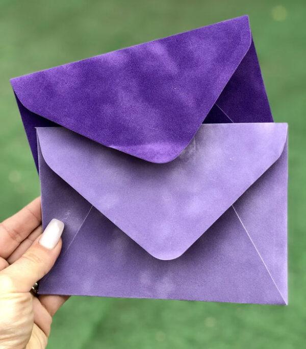 Бархатный конверт С6 для фото купить
