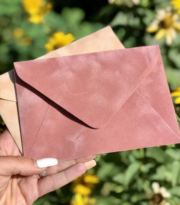 Плотные конверты С6 бархатные купить украина