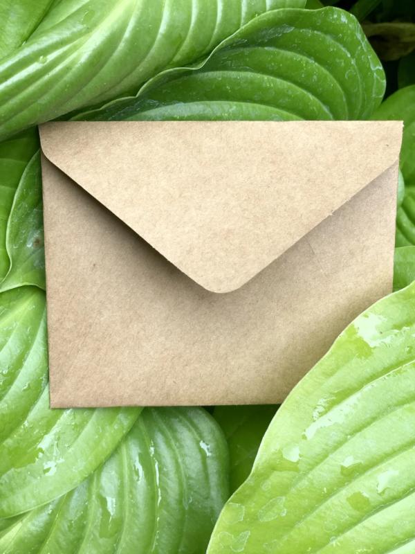 конверт мини бежевый