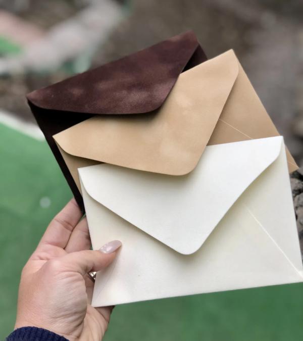 Конверт из дизайнерского бархатного картона цена